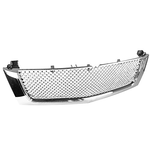 Spec-D Tuning HG-ECLD02C-RS Cadillac Escalade Ext Esv Front Mesh Grille (Escalade Chrome Grill)