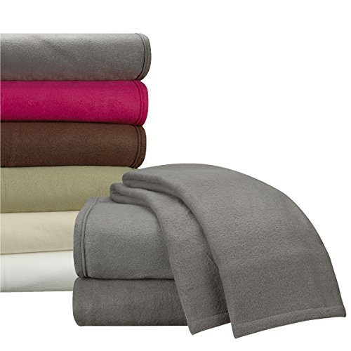 Clara Clark Micro Polar Fleece Bed Sheet Set, Queen Size, Charcoal Gray