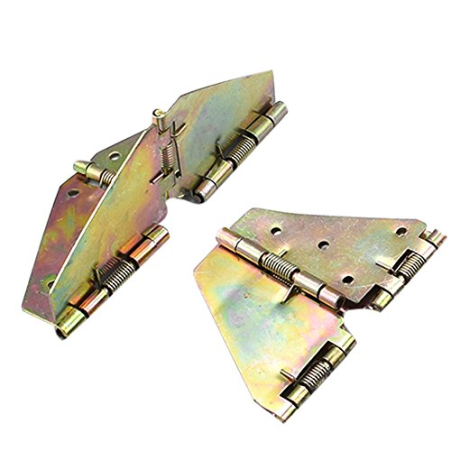 Echaprey Iron Color-zinc Butterfly Shape Table Top Folding Leaf Hinge Spring Loaded Hinges Support Hardware Small (2Pcs)