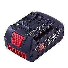 18 Volt 5.0Ah Battery for Bosch Lithium-Ion Cordless Power Tools BAT620 BAT622 SKC181-202L BAT619G