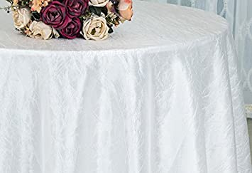Awe Inspiring Wedding Linens Inc 132 Inch Round Crinkle Crushed Taffeta Tablecloths Round Table Cover Linens Download Free Architecture Designs Scobabritishbridgeorg