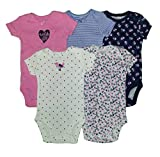 Carter's Baby Girls' 5-Pack Bodysuits Pink Hi 3 Months