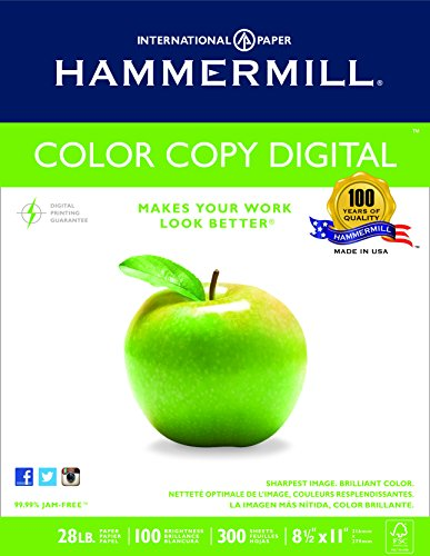 Hammermill Color Copy Digital Paper 100 Bright, 300 Sheets/1 Ream (300 Sheets/1 Ream), White (102700R)