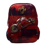 Tinytot Designer Spider Byke School Bag for Boys (Multi)