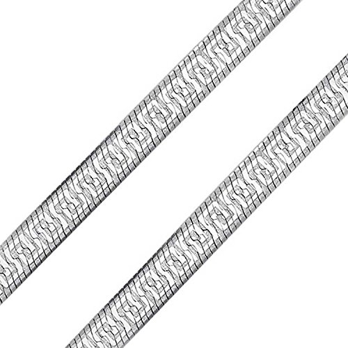 925 Sterling Silver Greek Key - Herringbone Reversible Flat Greek Key Design Flexible Chain 7MM For Women Necklace 925 Sterling Silver Italian 18 In
