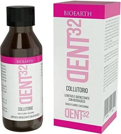 BIOEARTH - DENT32 Mundwasser - Sanfte Reinigung für die perfekte Mundhygiene - Sorgt für frischen - Atem Mit antibakteriellen Eigenschaften - Gründlich aber mild - Vegan & fluoridfrei - 100 ml Yumi Bio Shop