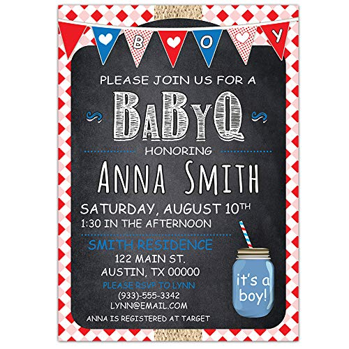 BabyQ Baby Shower Party Invitations - It's a Boy -