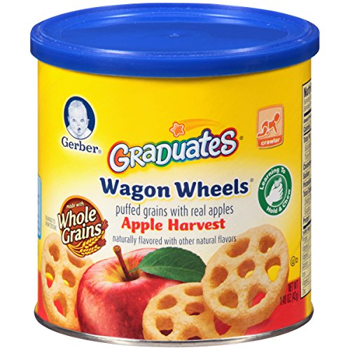 Gerber Graduates Finger Foods Harvest Apple Wagon Wheels, 1.48-Ounce Canisters (Pack of ()