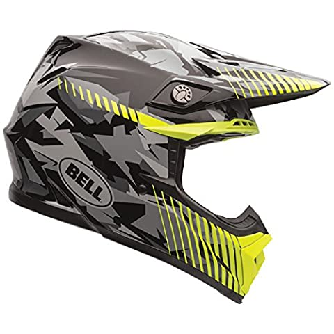 Bell Moto-9 Unisex-Adult Off Road Helmet (Yellow Camo, Medium) (D.O.T.-Certified)