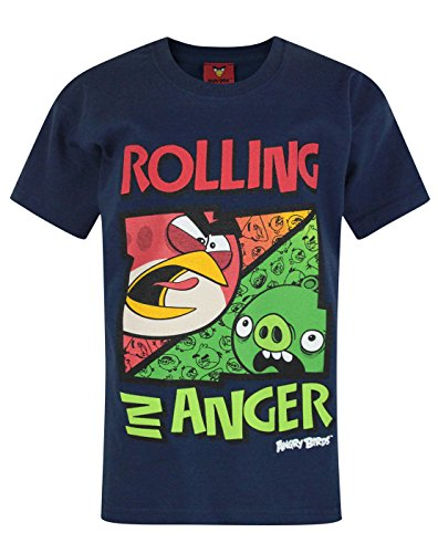 Official Angry Birds Rolling in Anger Boy's T-Shirt (9-10 Years) Blue for $<!--$10.10-->