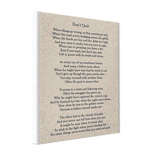 YOBSTF7s Cheap Art Canvas Don't Quit poem - Canvas Pop