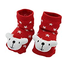 BONAMART ® Baby Girl Boy 3D Cartoon Socks Slippers Shoes Cotton
