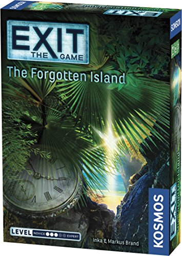 Exit: The Forgotten Island | Exit: The Game - A Kosmos Game | Family-Friendly, Card-Based at-Home Escape Room Experience for 1 to 4 Players, Ages 12+ -