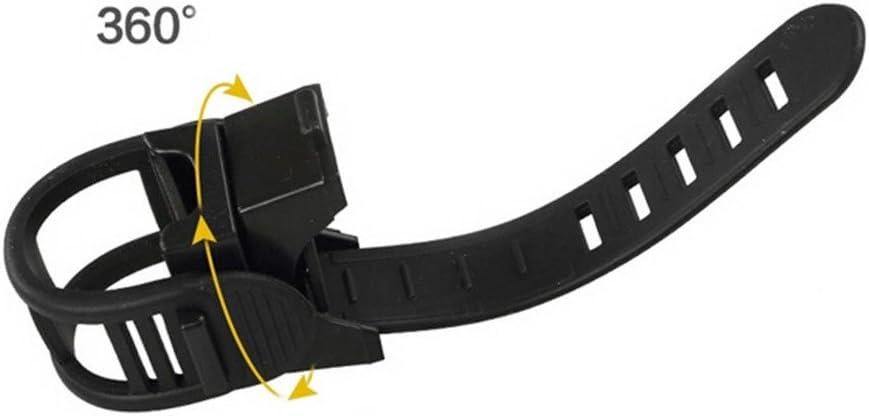 Negro VANKER 360 /° Rotaci/ón Soporte de Montaje de alimentaci/ón 1X Luz Clip del sostenedor de la Bici Plegable
