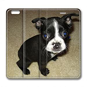 iCustomonline Boston Terrier Fashionable PU Leather Case for iPhone 6 Plus( 5.5 inch)