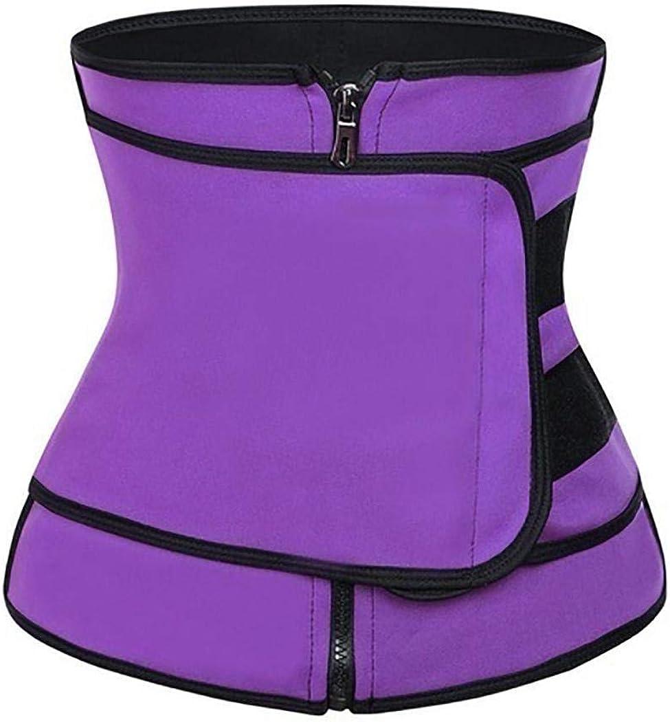 Fanxis Women Waist Trainer Belt for Weight Loss Body Shaper Hot Burner Sweat Wrap Gym Waist Trainer