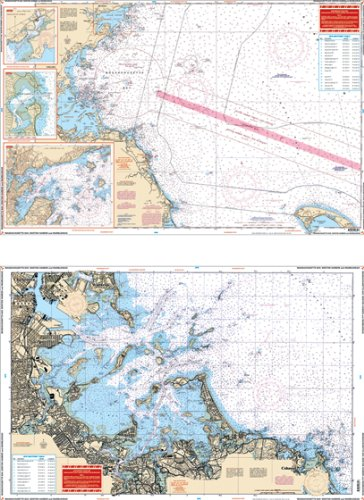 Waterproof Charts, Standard Navigation, 65 Massachusettes Bay, Boston Harbor, and Marblehead