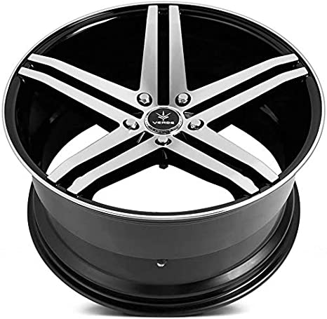 22x9//5x112mm Verde Custom Wheels Parallax Silver Wheel with Machined Face