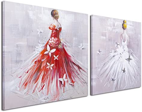 Gardenia Art – Elegante Rojo Y Blanco faldas con mariposas 100 ...