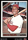 #10: 1966 Topps # 32 Adolfo Phillips Philadelphia Phillies (Baseball Card) Dean's Cards 5 - EX Phillies