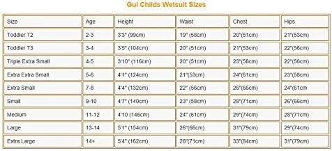 Gul 3//2MM NEPTUNE CHILDS UNISEX GIRLS BOYS FULL LENGTH WETSUIT CANOE KAYAK SURFING JETSKI DINGHY