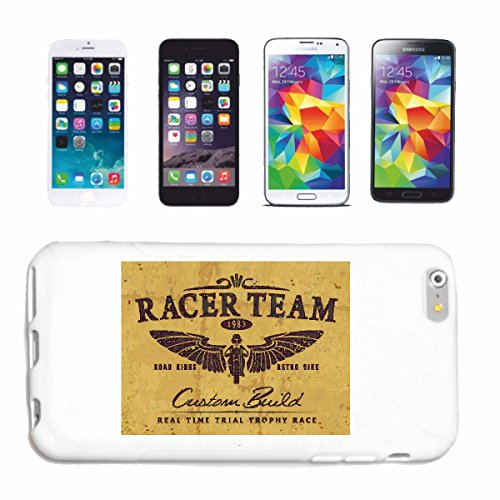 "cas de téléphone iPhone 7+ Plus ""RACER RACE ÉQUIPE RACING FORMULE MOTOR SPEEDWAY ÉQUIPE SPEED CLASSIC AMERICAN"" Hard Case Cover Téléphone Covers Smart Cover pour Apple iPhone en blanc"