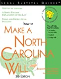 How to Make a North Carolina Will, Edward A. Haman and Jacqueline D. Stanley, 1572481293