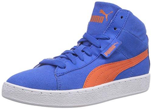 Puma Puma 48 Mid canvas Jr - zapatillas deportivas altas de lona infantil azul - Blau (strong blue-nasturtium 01)
