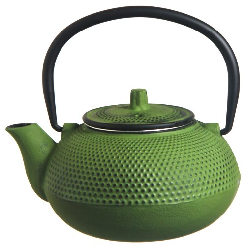 New Star International 40oz Hobnail Cast Iron Teapot (LIME GREEN)