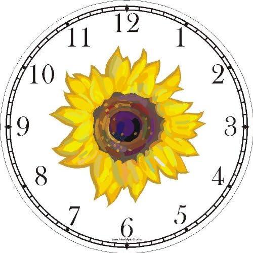 WatchBuddy Sun Flower or Sunflower Wall Clock Timepieces Hunter Green Frame