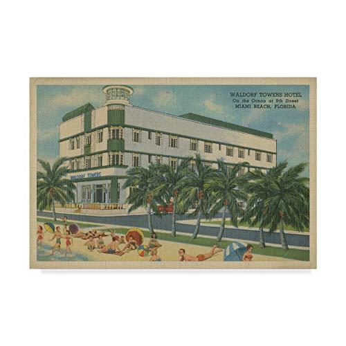 (Trademark Fine Art Miami Beach V by Unknown, 30x47-Inch)