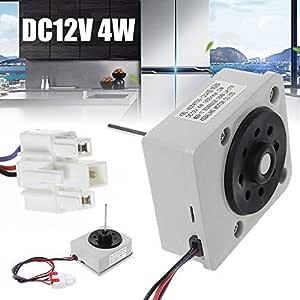 silencioso Potente circulaci/ón de Aire Delisouls Motor de Ventilador de refrigerador DC12V 4W 1450R//min KBL-48ZWT05-1204 Motor de Ventilador de refrigerador para TCL Homa