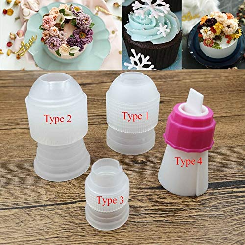 Zoomy far 4 Size Cake Decorating Couplers Converter Adaptor Icing Piping Nozzle Bag y Bakeware Baking Cupcake Cookie: Type 3
