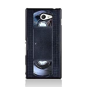 Old Skool VHS Call Candy de casete Carcasa para Sony Xperia M2