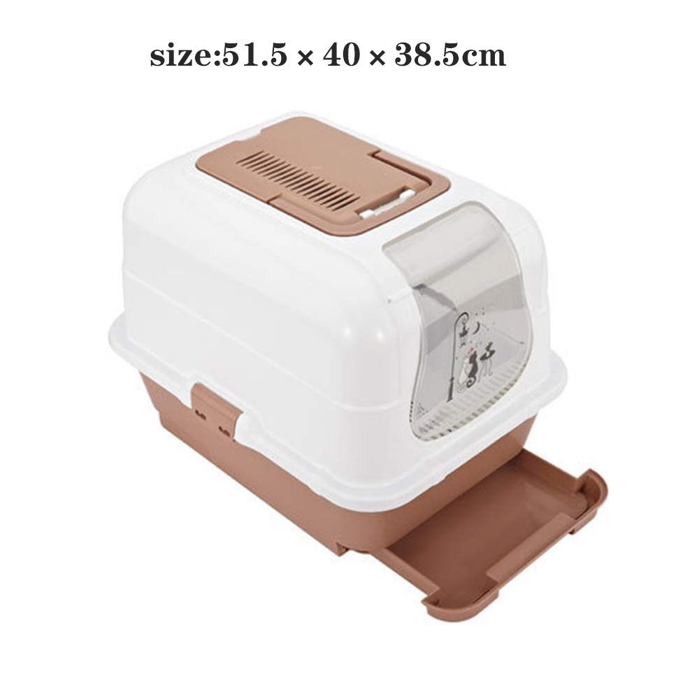 Pet cat potty toilets, Drawer-type closed litter box,Clean Step Litter dog Toilet,pet Litter Box with Litter Scoop,Cat Toilet Training Systems