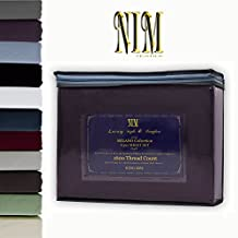 NIM Textile Luxury 1600 TC Softness Deep Pocket 4pc Bed Sheet Sets MILANO Collection - Eggplant, Queen