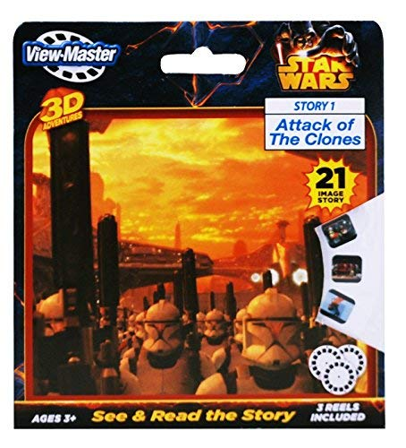 - New STAR WARS -Attack of the Clones View-Master Reel 3D 3 pack 3 reels - 21 images