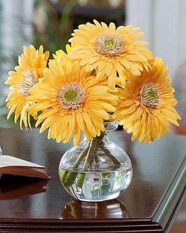 Gerbera-Silk-Flower-Arrangement-Yellow