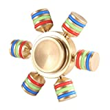 Moya Spinner Fidget Toy Hand Spinner Toy EDC Helps Focus, Stress, Anxiety, Boredom (Mixed Color Pure Copper)