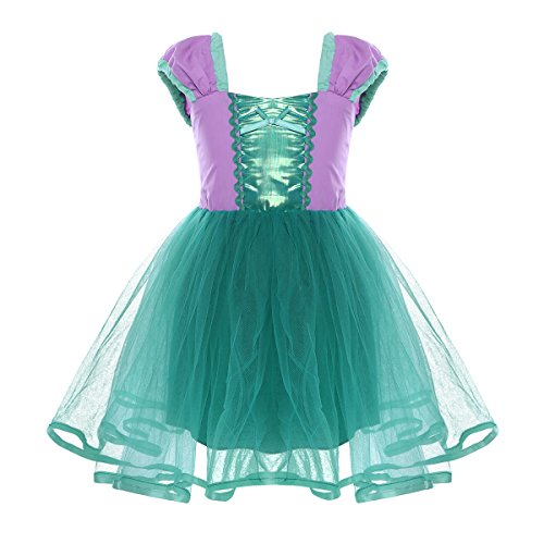 (Alvivi Baby Girls Fairy Tale Princess Halloween Cosplay Dress up Costume Christening Baptism Gowns Green)
