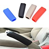 Afco Car Handbrake Covers Sleeve Anti-slip Silicone Hand Brake Grips For Auto size 6.5cm x 3.5cm x 1.5cm (Beige)