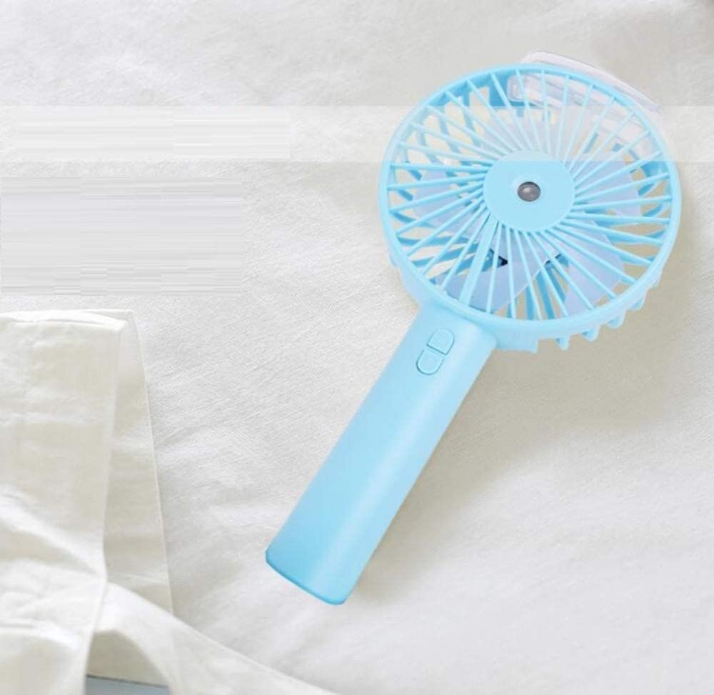 Table Fan USB Fanspray Refrigeration Handheld Small Fan Water Jet USB Mini Portable Electric Rechargeable Student Dormitory Silent Fan