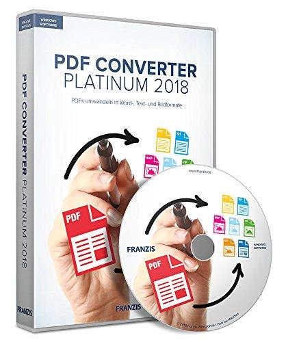 PDF Converter Platinum 2018: PDFs umwandeln und in Office, als EPUB, HTML oder als Text verwenden