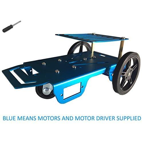 low-cost Feetech FT-MC-002-SMC Blue Aluminum Robot Vehicle Chassis