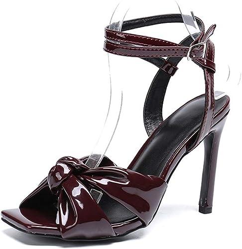 sandales à talons noeud détail métal