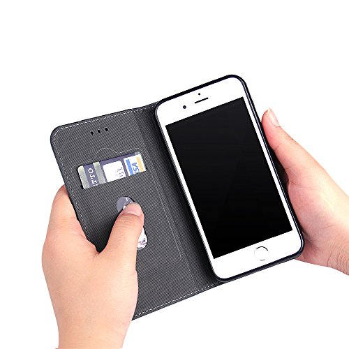 para iPhone 6s Wallet Phone Case, Vandot Premium PU Cuero Caja del Teléfono de la Carpeta con Desmontable TPU Bumper Phone Shell y Ranuras Tarjeta de Crédito y Makeup Mirror Multifuncional Mano Bolsa  Bronze-2