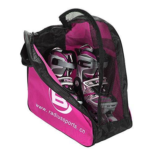 Lixada Patines de Patinaje Bolsa Portátil Llevar Bolsa Hockey Patín Figura Zapatos Titular de Rodillos Color de Rosa
