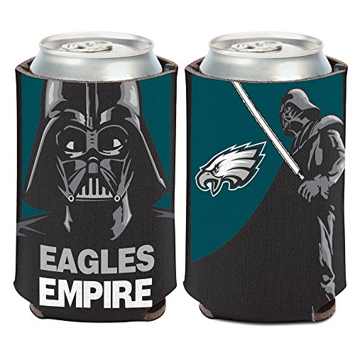 NFL Star Wars Darth Vader 12 ounce Can Coozie (Philadelphia Eagles)