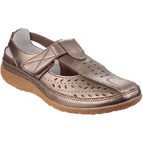 Adottivo Donne Foster Bronzo amp; Scarpa Velcro Fleet Sandalo x4TAvwEH