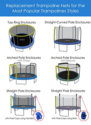 14 Foot Trampoline Net with Sleeves (Fits Bounce Pro/SportsPower Trampolines with 3 Arches) by SkyBound (Image #2)